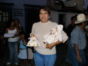 February 2, blessing of the nativity Jesus dolls.