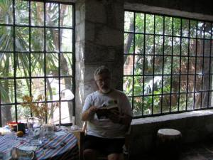 Barry in our bedroom in Oaxaca.