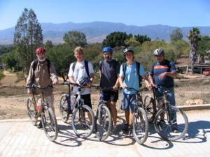 Biking outside Oaxaca.