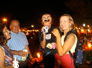 Dia de Muertes at her family's graveyard with Flor's uncle and Johnny
