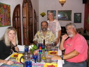 Dinner with friends in Oaxaca.