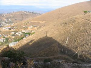 Barry and I hiked to the cross above Oaxaca.