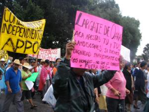 Various groups join the protest against the Mexican government.