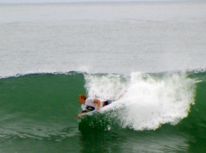 Jesse on a Pueto wave.