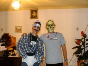 John and Jesse got to dress up for Halloween too.  In case you can't tell, John is Captain Underpants!