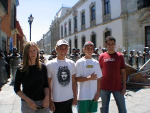 Julia, Jesse, John, and Tony in front of the PFP.