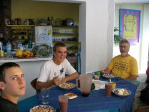 John, Jesse, & Barry -- our last breakfast all together in Oaxaca.
