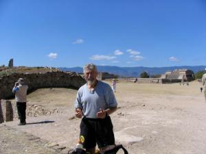 With Barry, I hiked the 20 kilometers to the top of Monte Alban.