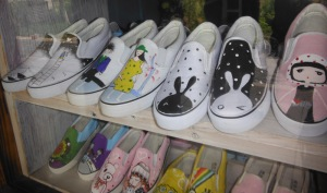 Now you can buy cute comfortable shoes in Wuzhen