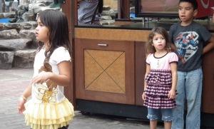 Kids watching hula