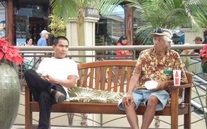 Waiting at the mall