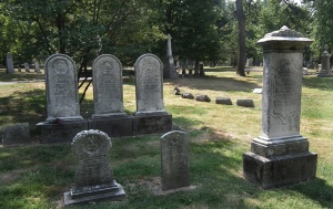 Newly discovered (by us) family graves from 1863.