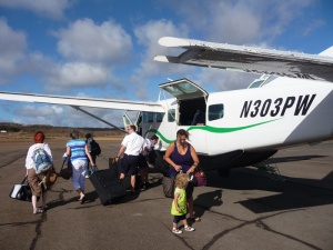 We flew from Honolulu to Molokai and then on to Maui.