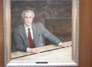 Painting of Frank Lloyd Wright  in The King Kamehameha Golf Club in Waihu, Maui