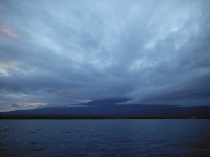 Before dawn- clouds over Haleakala
