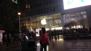 A busy Apple store on Shanghai's Nanjing Road