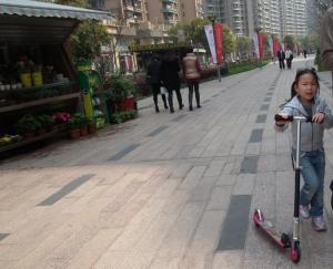 Shanghai pedestrian walkway
