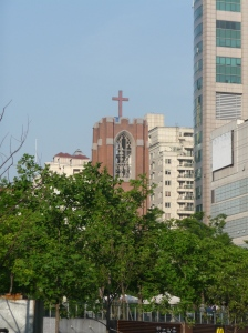 Shanghai church--seen from People's Park.