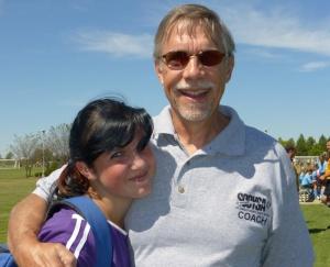 Bri and Al at a soccer game