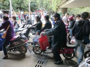 Kunming, China - crowds everywhere