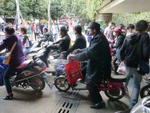 Kunming, China - crowds everywhere