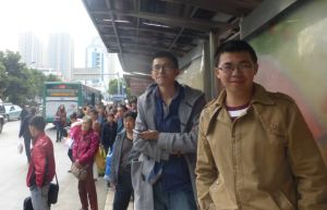Waiting for another bus in Kunming, China
