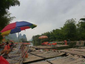 Bamboo raft embarcation