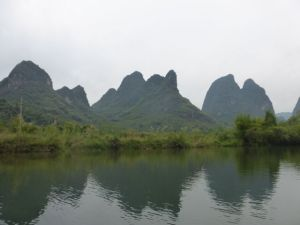 A cloudy afternoon on the Yulong River