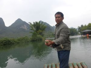 Our bamboo raft guide