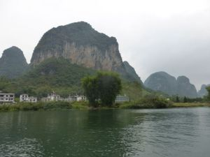 Occasionally, we saw some construction along the banks of the Yulong.