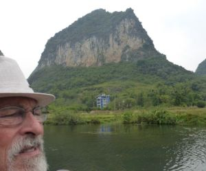 Barry and a huge karst.