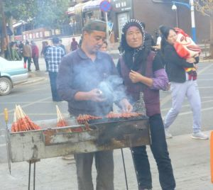 Some offer yummy treats -and then run across the street with the hot coals when the police came.  And then they returned five minutes later!