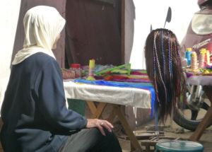 Hair braiding/threading  shop.
