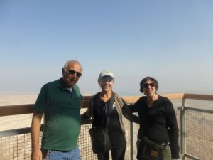 Our great guides: Danny & Ruth at the top of Masada.