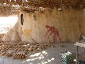 Some people learned to make the clay/mud/straw bricks that was used to build much of Lotan.