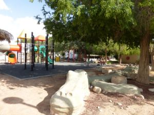 Besides the Eco Kef playground, there is this modern one for the kibbutz kids.