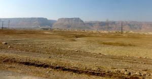Masada from sea level.