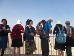 Tourists to Masada.