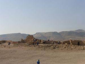 Tourists at Masada.