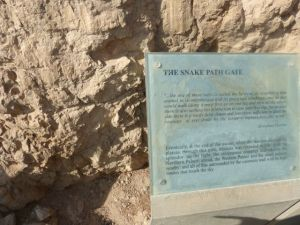 The Snake Path - the way up to Masada.