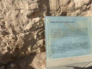 The Snake Path - the way up to Masada.