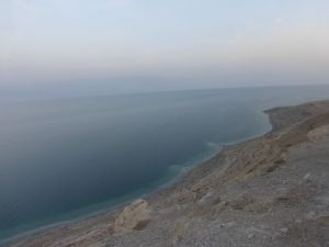 On our way back to Danny & Ruth's house - The Dead Sea, below Masada.