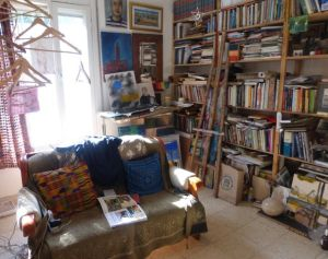 Michael's art filled apartment in Jerusalem