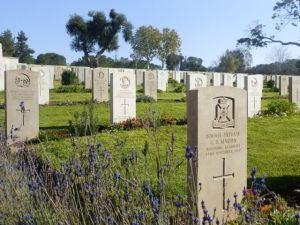 Young men from many places died  fighting the Ottoman Empire - WWI