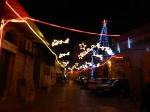 Christian section of the Old Walled City of Jerusalem - New Year's Eve.