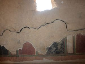 Some tiles remain in Masada rooms.