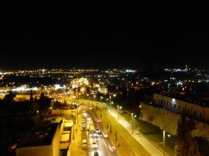 Jerusalem lights from the top of Notre Dame