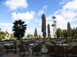 King David Hotel outdoor restaurant
