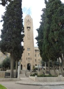 The Jerusalem YMCA is a notable landmark.