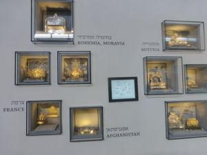 Monorahs xx from around the world are on display